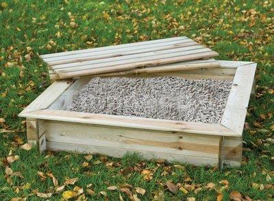 Zandbak vierkant met deksel