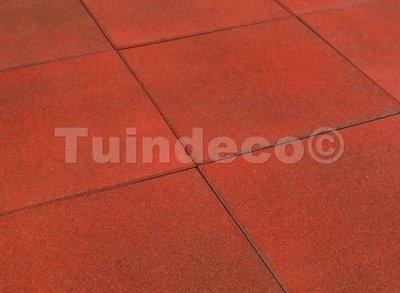 Rubber tegels rood