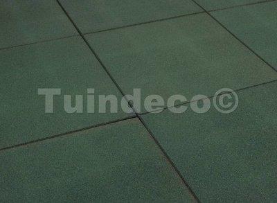 Rubber tegels groen
