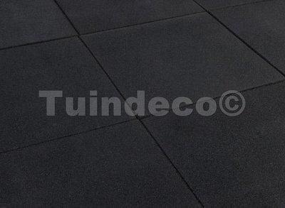 Rubber tegels zwart