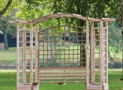 Pergola hout houten pergola bouwpakket houthandel van gelder - Bank voor pergola ...