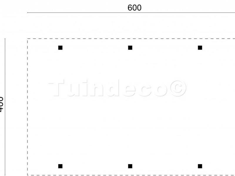 Tuindeco Carport zadeldak
