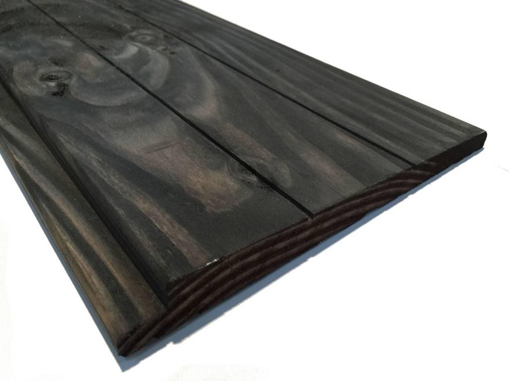 Zweeds rabat douglas planken zwart ge mpregneerd houthandel van gelder - Planken zwarte ...