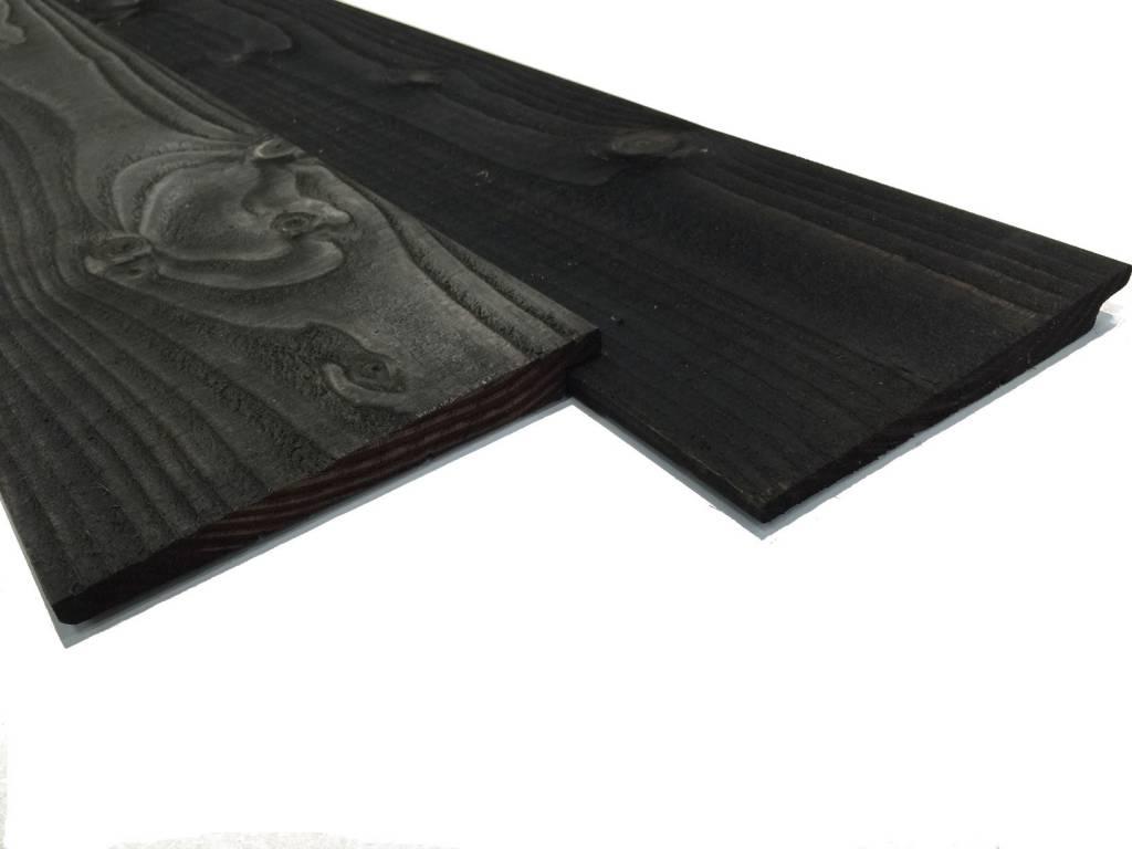 Zweeds rabat douglas planken zwart gedompeld houthandel van gelder - Planken zwarte ...