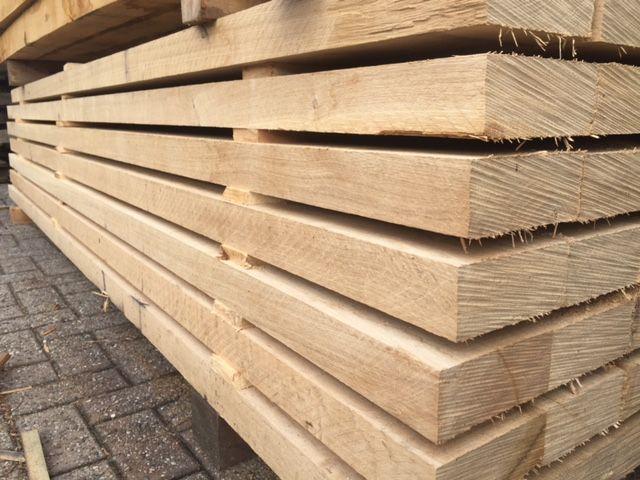 Eiken balk mm cm fijnbezaagd houthandel van gelder