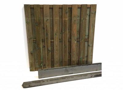 Hout beton schutting pakket grijs 15-planks