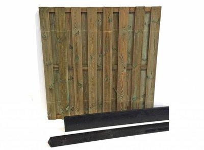 Hout beton schutting pakket antraciet 15-planks