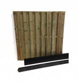 Hout beton schutting pakket 17-planks per meter