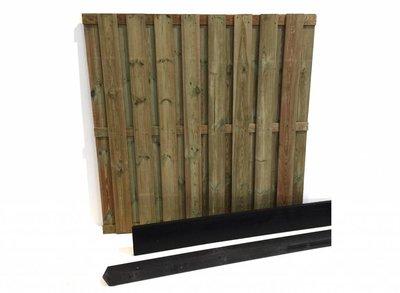 Hout beton schutting pakket antraciet 17-planks
