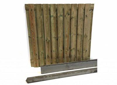 Hout beton schutting pakket grijs 19-planks