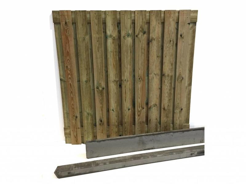 Hout beton schutting pakket 19-planks per meter
