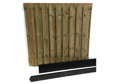 Hout beton schutting pakket antraciet 19-planks