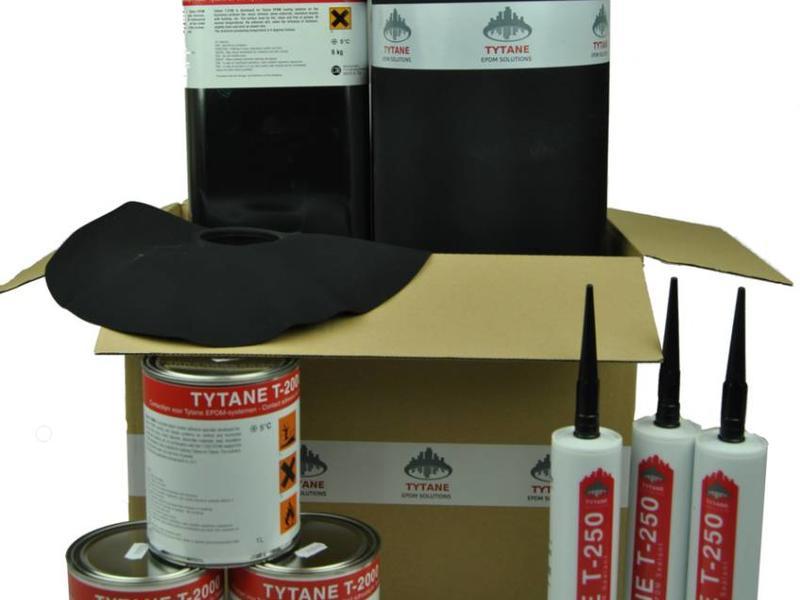 Tytane EPDM dakbedekking pakket 375cm breed (3,75 meter) - EPDM Dakfolie