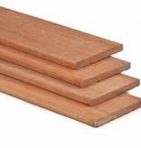 Tuindeco Hardhouten Plank 15x140mm Geschaafd 2x V-groef