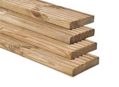 Vlonder planken 28x145mm Groen geïmpregneerd