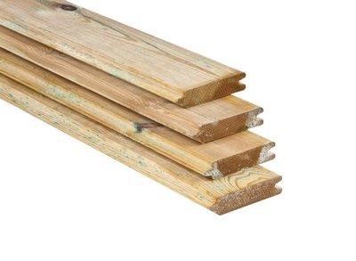 Blokhutprofiel Plank GeÏmpregneerd Geschaafd Grenen 28x127mm