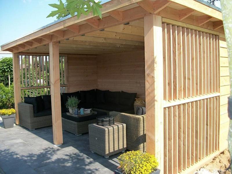Maatwerk douglas veranda heerde buitenverblijf for Bouwtekening veranda eigen huis en tuin