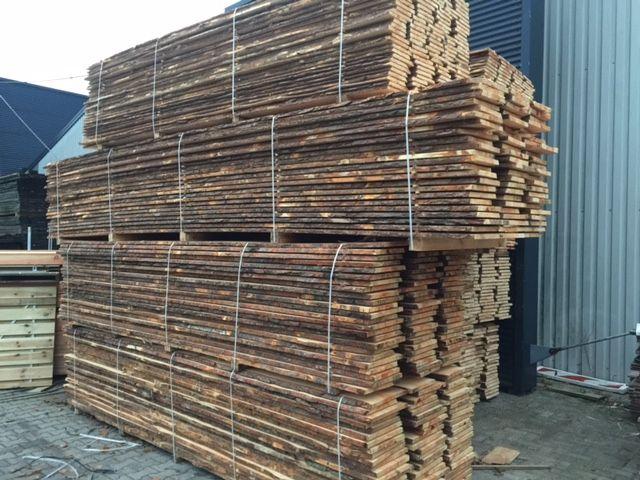 Schaaldelen onbehandeld of geïmpregneerd houthandel van gelder