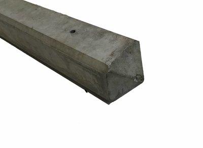 Hoek-betonpaal lichtgrijs diamant kop
