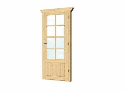 Vuren enkele deur en kozijn dubbel glas DL11