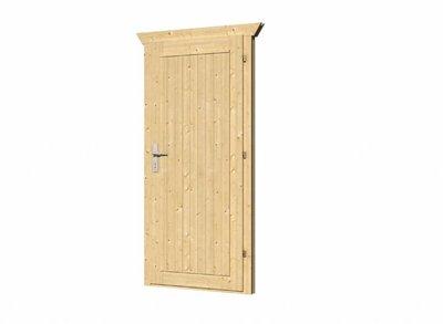 Vuren deur met kozijn D5 linksdraaiend