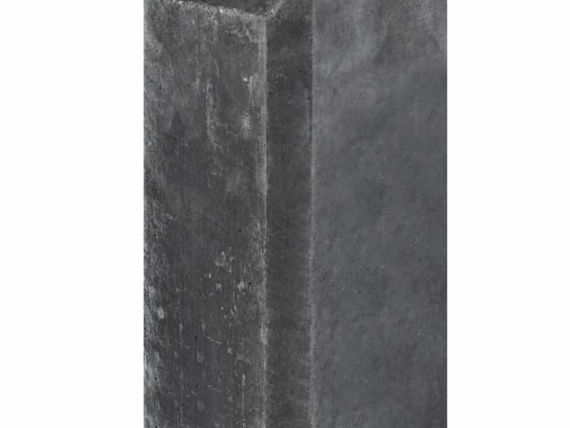 Tuindeco Betonpaal antraciet met halfronde kop en vellingkant 10.0x10.0x280cm glad