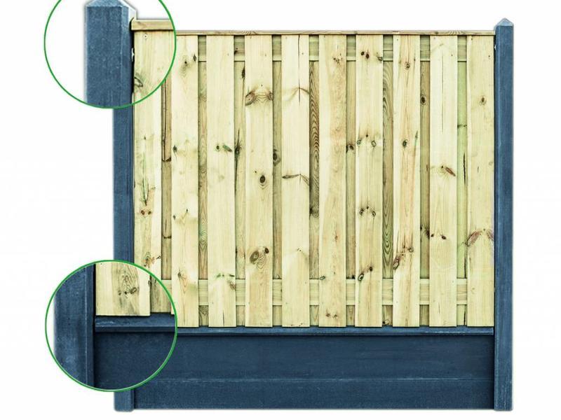 Tuindeco Afdekkap Lichtgrijs 180cm (Beton)