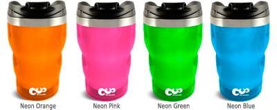 Neon-Farben Cup Trends Coffee to go Thermobecher, orange, pink, grün, blau
