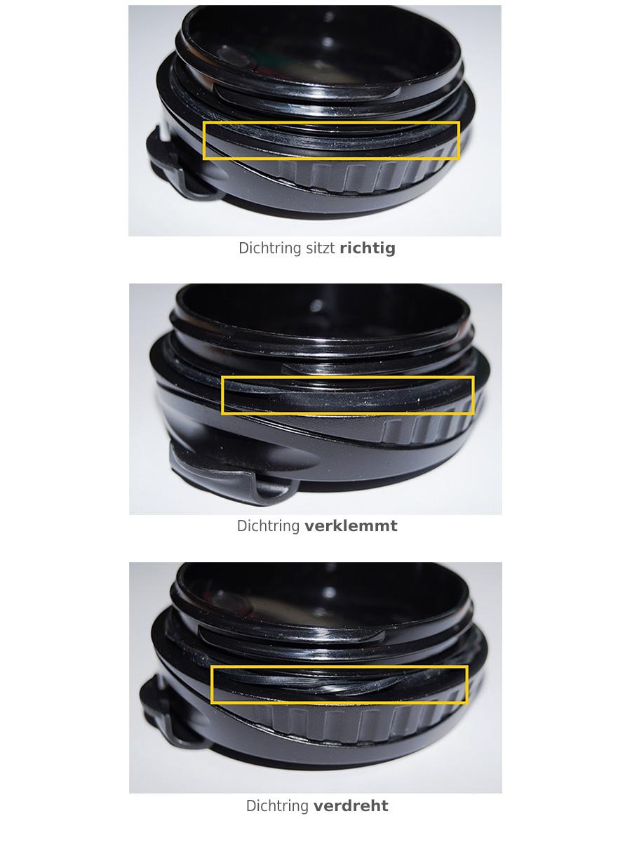Thermobecher Deckel - auslaufsicher