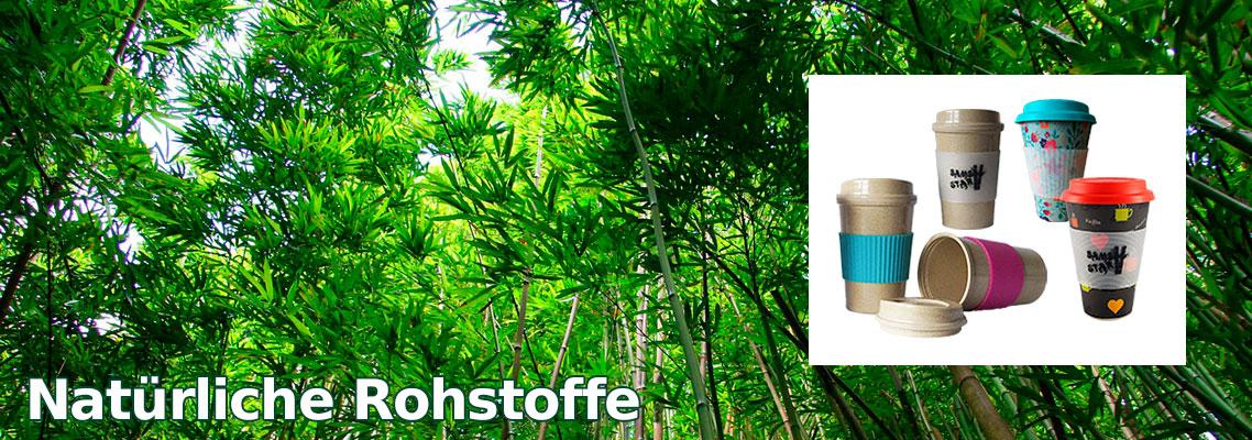Bambus Mehrwegbecher nachhaltig - Bambusbecher auf Basis natürlicher Rohstoffe