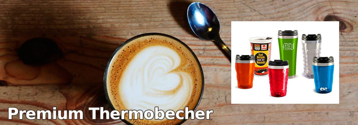 Premium Thermobecher Edelstahl, Kunststoff und Porzellan