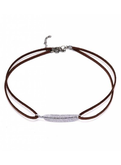 Feather choker brown