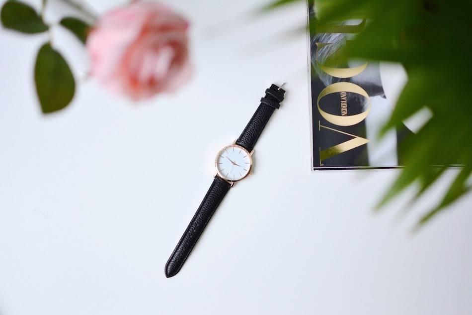 Chique horloge & 'belt' armband