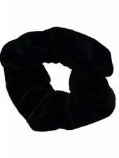 Velvet scrunchie - black