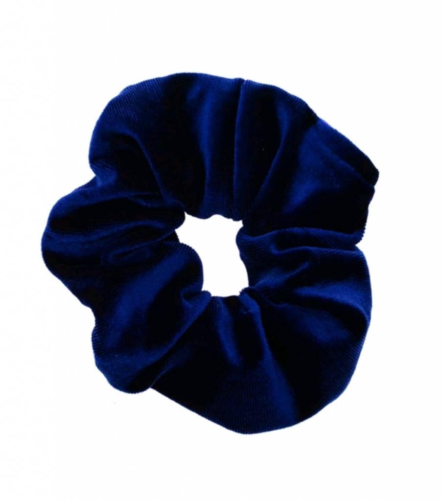 Velvet Scrunchie Blue Beautiful Bijoux