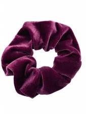 Velvet scrunchie - aubergine
