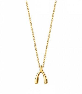Gold wishbone