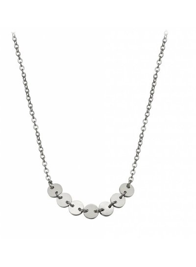 Dainty disc necklace silver