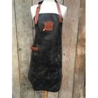 KF Antique Brown leather apron 89 cm