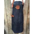 KF Leather apron Caiman leather Nero 74 cm