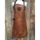 KF Caiman leather Cognac leather apron 74 cm