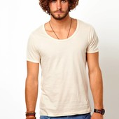 Scotch&Soda T-shirt met gebonden hals