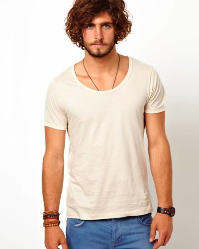 Scotch&Soda T-shirt with bound neck