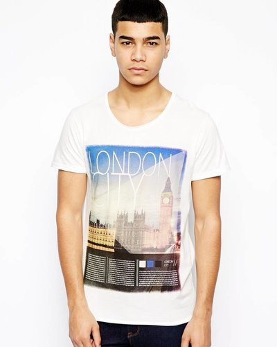 T-shirt met London print