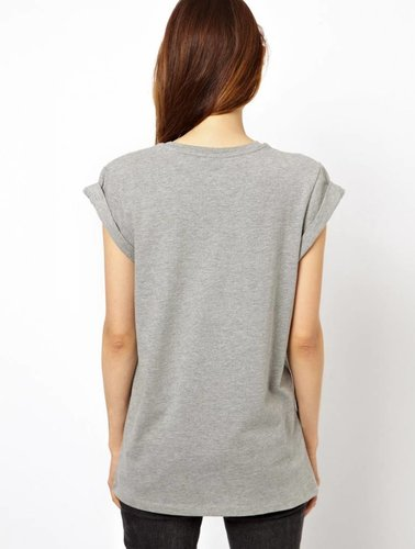 T-shirt mit #selfie print