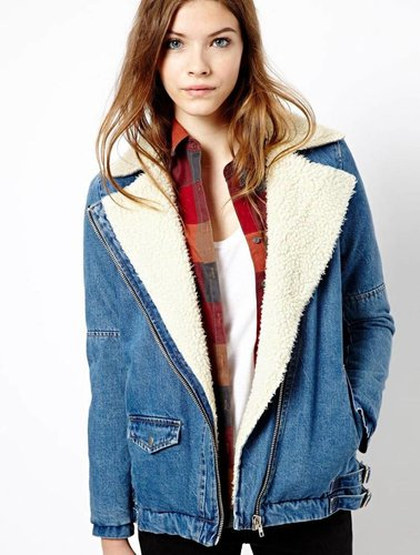 Denim mantel