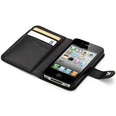 Flipcover Zwart voor iPhone 4(s) & 5(s)
