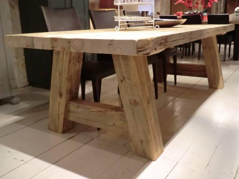 Robuuste Eiken Tafel : Robuuste tafels milaan oldwood de woonwinkel