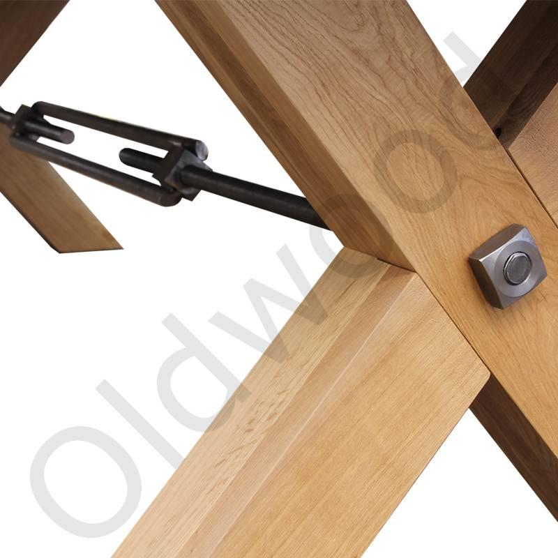 Robuuste tafels - Houten tafel met beton - Oldwood - De Woonwinkel