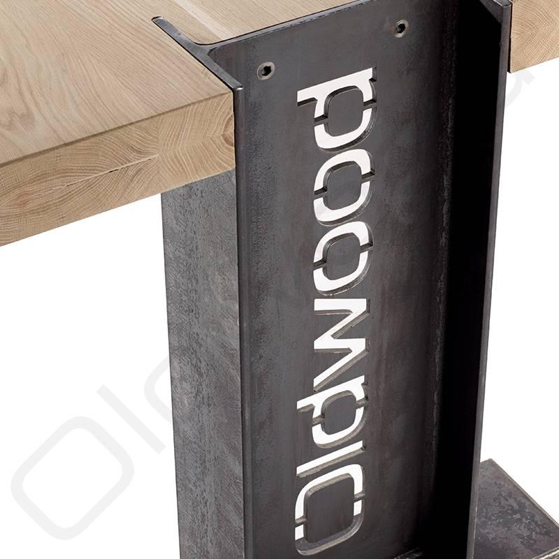 Robuuste houten tafel - Helsinki - Oldwood - De Woonwinkel
